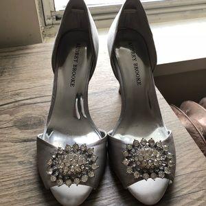 Audrey Brooke silver wedding pumps